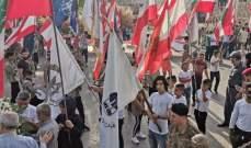 مسيرة شعبية بالقبة استنكارا للإعتداء الإرهابي الذي طال عناصر قوى الأمن والجيش بطرابلس