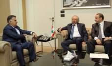 ابراهيم عرض مع وفد من المصارف العربية انعكاس التطورات على القطاع
