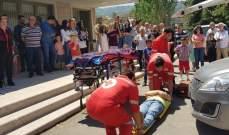 """""""اليازا"""" وحركة الشبيبة الأرثوذكسية نظمتا مناورة للصليب الاحمر بالقصيبة"""