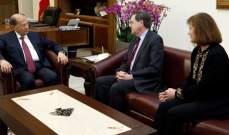 الرئيس عون أبلغ ساترفيلد موقف لبنان من الإعتداءات الإسرائيلية على حدوده ومياهه