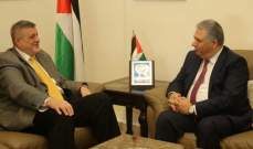 السفير الفلسطيني يستقبل المنسق الخاص للأمم المتحدة في لبنان