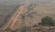 النشرة:قوة اسرائيلية تمشط الطريق العسكري المحاذي للسياج الحدودي