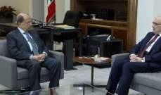 الرئيس عون اطلع من الأمين العام للمجلس الاعلى اللبناني السوري على عمل الامانة العامة