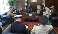 بو صعب بحث مع رئيس هيئة أركان الدفاع البريطانية سبل تطوير الجيش