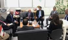 فنيانوس عرض مشاريع تطوير وتفعيل قطاع النقل مع وفد من البنك الدولي