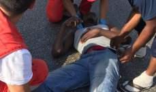 النشرة: جريح في حادث صدم على الاوتوستراد الشرقي لمدينة صيدا