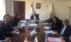 وزير البيئة ترأس الاجتماع الاول لجنة الاشراف على السياسة المستدامة للنفايات