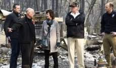 ترامب وصل إلى كاليفورنيا لتفقد الوضع مع تجاوز عدد مفقودي حريق الولاية الألف شخص