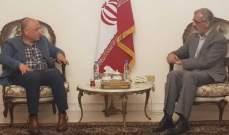 ذبيان زار السفارة الإيرانية: ما يجمعنا هي الثوابت والقضايا المحقة