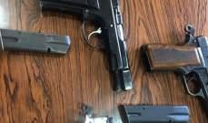 قوى الامن: إحتجاز سيارة مخالفة بعد أن شهر صاحبها مسدسه بوجه الدورية