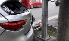 النشرة: جريح في حادث سير عند مدخل صيدا الجنوبي