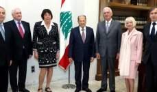 رئيس الجمهورية التقى وفدا من اكاديمية العلوم في معهد فرنسا