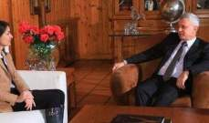 فرنجيه التقى كريستينا لاسن وعرض معها آخر المستجدات