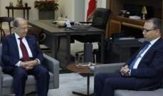 الرئيس عون التقى السفير المصري وبحث معه الاوضاع العامة