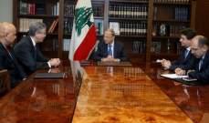 الرئيس عون أكد لرئيس البنك الدولي لمنطقة الشرق استمرار عملية مكافحة الفساد