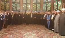 دريان التقى وفدا من ممثلي رؤساء الطوائف الإسلامية والمسيحية ووفداً من المرابطين