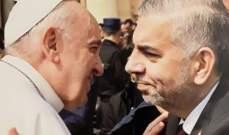 رئيس بلدية ببنين العبدة التقى البابا في الفاتيكان