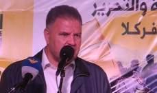 علي فياض: قضية فلسطين تحتاج الى كل جهد مهما كبر أو صغر