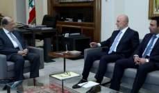 الرئيس عون التقى فنيانوس وعرض معه لشؤون الوزارة بحضور سعيد