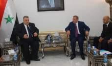 صباغ أكد ضرورة الإرتقاء بالعلاقات السورية- الأردنية بما يصب في مصلحة البلدين