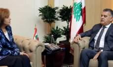 اللواء ابراهيم التقى سفيرة اميركا وبحثا الأوضاع السياسية والأمنية