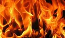 إخماد حريق مستودع للزيوت وعدد من خزانات المازوت داخل محطة للوقود في عين سعادة