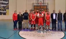 فوز جامعة الانطونية على الجامعة اليسوعية ضمن بطولة الجامعات بكرة السلة بزحلة