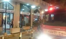 فوج اطفاء بيروت اخمد حريقاً في سنتر اريسكوا بالاس