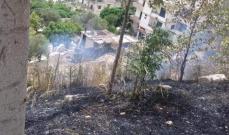 إخماد حريق في بلدة بيت الحاج العكارية