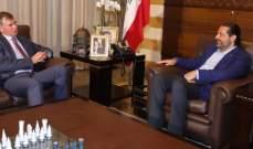 الحريري استقبل شورتر وهيئة مكتب المجلس الاقتصادي- الاجتماعي