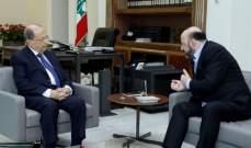 الرئيس عون استقبل الوزير السابق ملحم الرياشي وعرض معه الاوضاع السياسية العامة