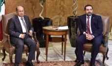 الجمهورية:اتصالات مكثّفة جرت ليل الثلثاء الأربعاء محورها عون وبري والحريري