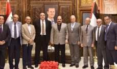 وفد من المرابطون والتنظيم الشعبي الناصري زار هلال الهلال في دمشق