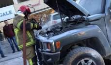 إخماد حريق سيارة في قرنة شهوان وآخر شب بغرفة للطاقة الكهربائية في الحازمية