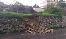 النشرة: فيضان مجرى نهر الزهراني وتوقف الدراسة في معظم مدارس النبطية