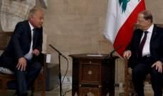 الرئيس عون التقى أبو الغيط: شكلنا لجنة لمتابعة تنفيذ قرارات القمة الاقتصادية