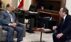 الرئيس عون أجرى مع السيد جولة أفق تناولت الأوضاع العامة والتقى خوري ودكاش