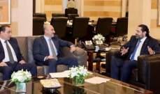 """الحريري عرض مع صليبا للأوضاع الأمنية بالبلد والتقى وفدا من حملة """"جنستي كرامتي"""""""