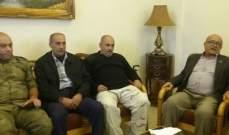 وفد من قيادة الأمن الوطني الفلسطيني زار رئيس رابطة لوبية الإجتماعية
