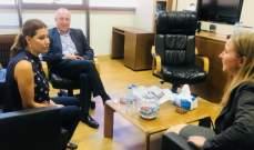يعقوبيان شاركت باعتصام شباب دورة الجمارك والتقت السفير الارجنتيني والملحقة السياسية في السفارة الاميركية
