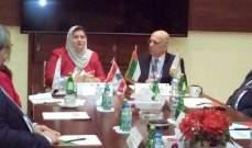 رئيسة الجامعة الاسلامية تبحث مع رئيس جامعة ابو ظبي شؤون التعليم العالي بالمنطقة