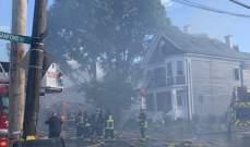 اندلاع حريق هائل في مدينة بوسطن بالولايات المتحدة