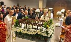 ضاهر ترأس رتبة دفن المسيح في كنيسة النبي ايليا في شكا