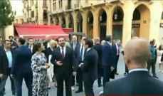 الحريري جال وولية عهد السويد وزوجها في وسط بيروت