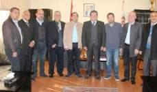 محافظ النبطية استقبل رئيس نادي الشقيف والأعضاء