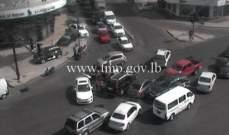 جريح نتيجة تصادم بين سيارة ودراج نارية عند تقاطع الالمازة سن الفيل