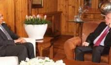 فرنجية التقى سفير باكستان في زيارة وداعية