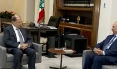 الرئيس عون أجرى مع الصفدي جولة افق تناولت التطورات السياسية