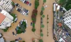 سكان أنطلياس عالقون في منازلهم والسيارات غارقة بالمياه