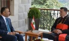 الراعي التقى رئيس شعبة الشمال في دائرة الامن القومي معزيا بشقيقته